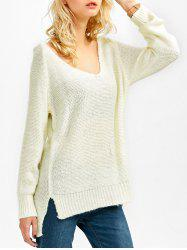 Asymmetrical Side Slit Sweater