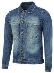 Pocket Button Up Denim Jacket -