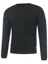 Drop Shoulder Crew Neck Plain Sweatshirt