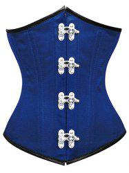 Lace-Up Underbust Steel Boned Corset - BLUE
