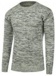 Crew Neck Space Dye Pullover Sweater -