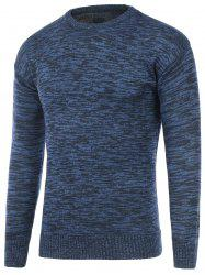 Crew Neck Space Dye Pullover Sweater