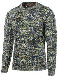Colorful Cable Knit Crew Neck Sweater