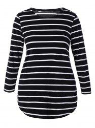 Plus Size Striped Mini Dress -