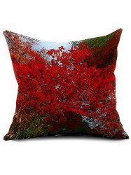Floral Printed Linen Home Decor Throw Pillowcase