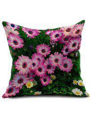 3D Flower Linen Cushion Cover Throw Pillowcase