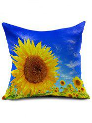 Sunflower Chair Sofa Backrest Cushion Throw Pillow Cover - COLORMIX
