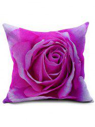 3D Rose Flower Throw Pillow Cover
