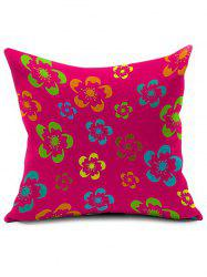 Vintage Floral Printed Home Decor Throw Pillowcase - RED
