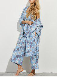 Daisy Print Three Piece Loungewear -