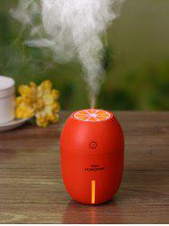 Lemon Shape Mist Maker Diffuser Air Humidifier LED Light - ORANGE