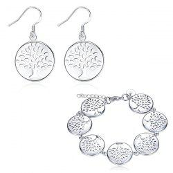 Engraved Christmas Tree Earrings and Bracelet