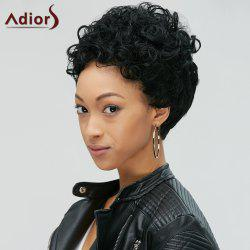 Adiors Pixie Cut Ultrashort Fluffy Curly Synthetic Wig -