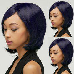 Short Shaggy Straight Oblique Bang Synthetic Wig -