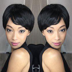 Spiffy Short Oblique Bang Straight Bob Synthetic Wig -