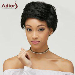 Ultrashort Layered Fluffy Natural Straight Synthetic Wig -