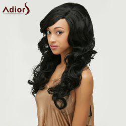 Fluffy Long Wavy Side Parting Synthetic Wig