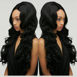 Long Shaggy Wavy Centre Parting Synthetic Wig -