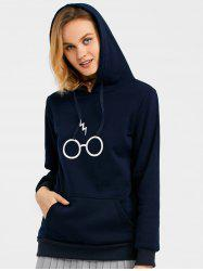 Drawstring Graphic Fleece Hoodie