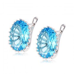 Oval Faux Diamond Stud Earrings