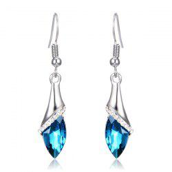 Faux Crystal Zircon Drop Earrings - OASIS