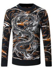 Dragon and Scrawl Pattern Sweater