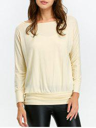 Ruched Long Sleeve T Shirt