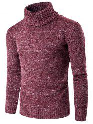 Roll Neck Knit Blends Long Sleeve Sweater -
