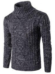 Roll Neck Knit Blends Kink Design Long Sleeve Sweater