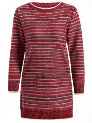 Striped Pullover Long Sweater -