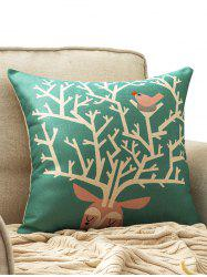 Merry Christmas Elk Print Cushion Throw Pillow Cover