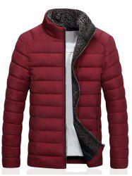 Stand Collar Zip Up Quilted Jacket