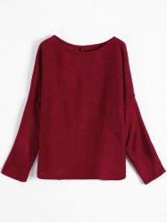 Slash Neck Plain Sweater