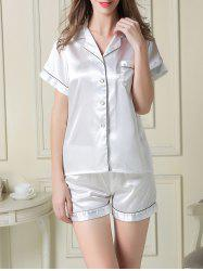 Satin Boxer Pajamas Summer Set