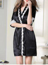 Satin Slip Dress and Belted Robe