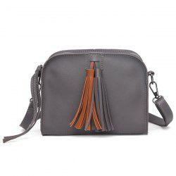 Zip Tassels PU Leather Crossbody Bag