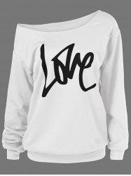 Skew Collar Love Plus Size Sweatshirt -