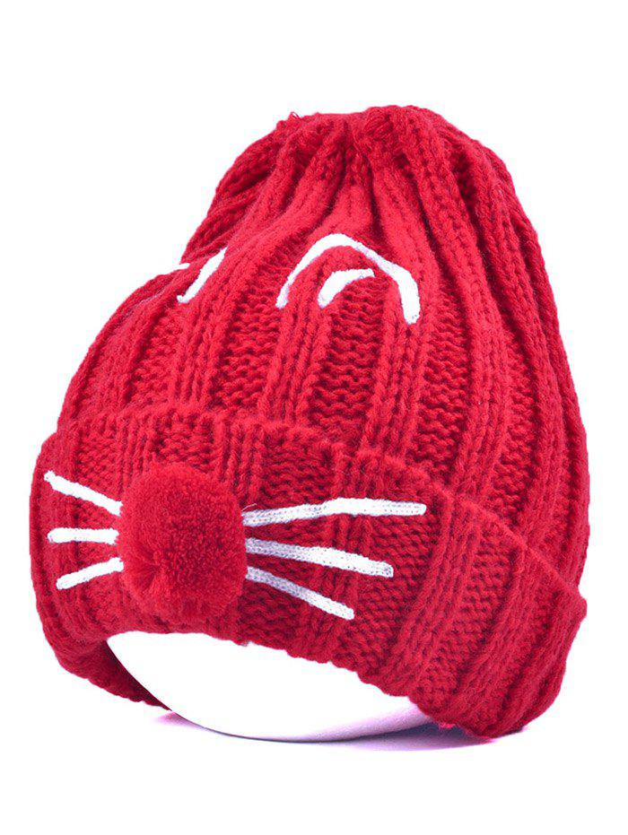 Outfit Pom Ball Cat Face Beanie Hat
