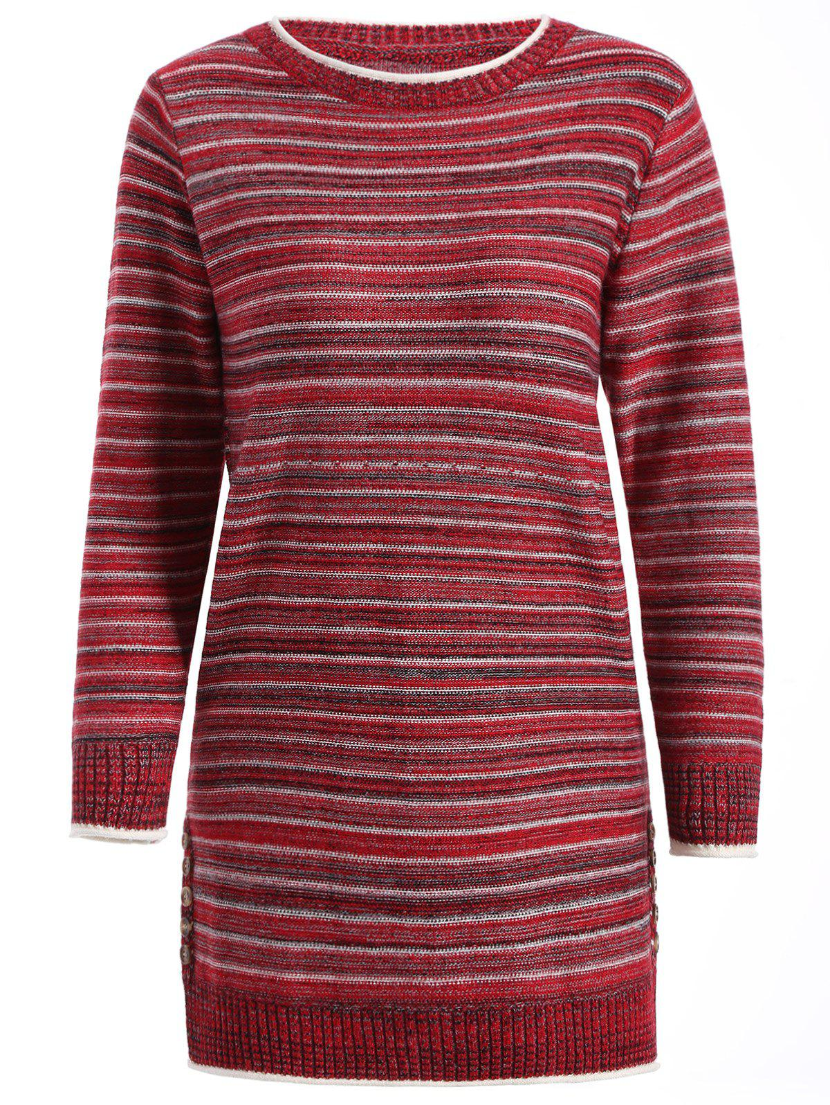 Affordable Striped Pullover Long Sweater