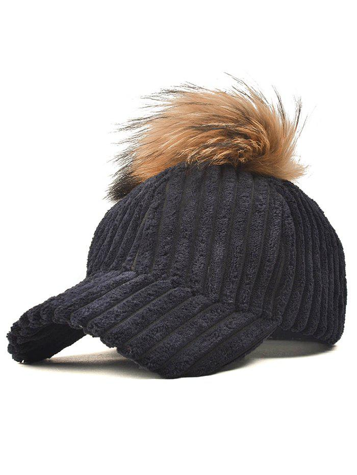 Shop Pom Ball Embellished Corduroy Baseball Hat