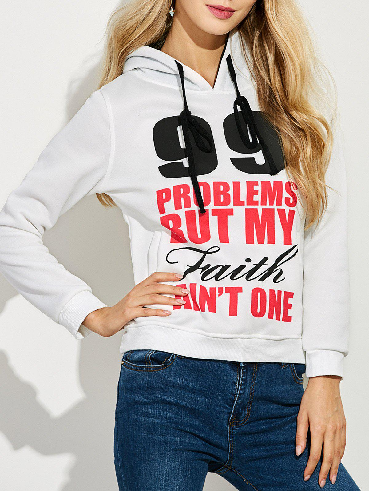 Latest Casual Letters Number Print Hoodie