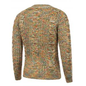Colorful Cable Knit Crew Neck Sweater -