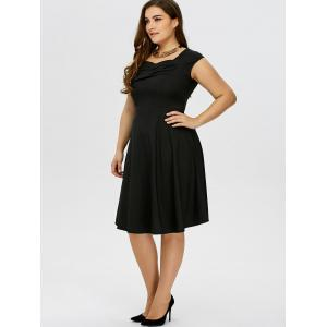Plus Size Vintage Ruched Swing Dress -
