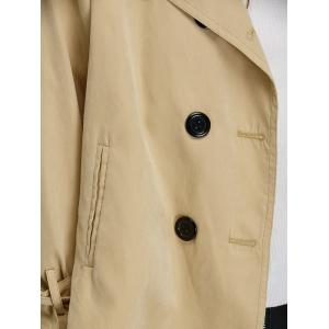 Epaulet Double Breasted Jacket - APRICOT 2XL