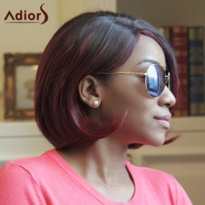 Adiors Short Straight Side Parting Highlight Bob Synthetic Wig - COLORMIX