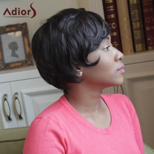 Adiors Side Bang Straight Heat Resistant Synthetic Short Wig -