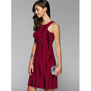 Sleeveless Cut Out Short Formal Party Sheath Dress - DARK RED M