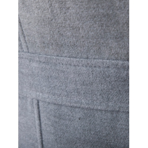Double Breasted Woolen Blends Coat - LIGHT GRAY 2XL
