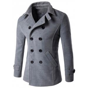 Double Breasted Woolen Blends Coat
