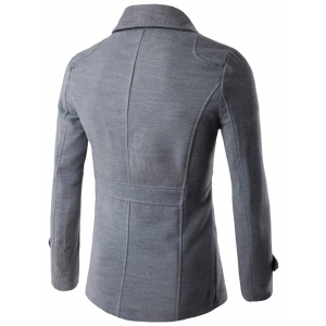 Double Breasted Woolen Blends Coat -